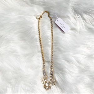 Kate Spade Gold and Clear Stone Necklace NWT